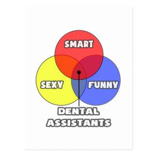 Venn Diagram .. Dental Assistants Postcard
