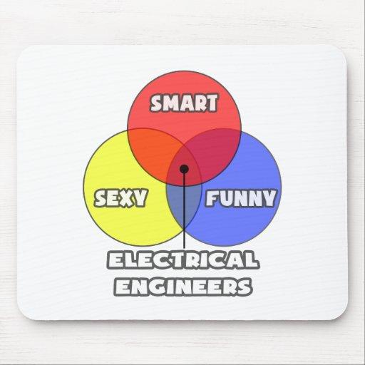 Venn Diagram .. Electrical Engineers Mousepads