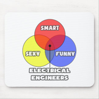 Venn Diagram Electrical Engineers Mousepads