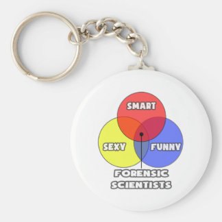 Venn Diagram .. Forensic Scientists Basic Round Button Key Ring
