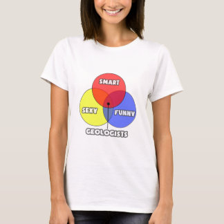 Venn Diagram .. Geologists T-Shirt
