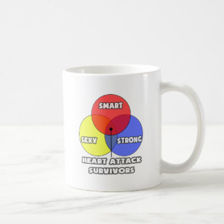 Venn Diagram .. Heart Attack Survivors Mugs