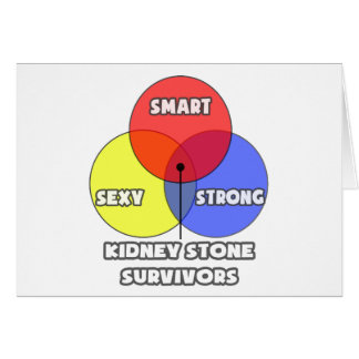 Venn Diagram .. Kidney Stone Survivors Greeting Card