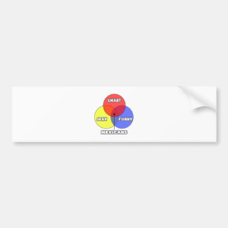Venn Diagram .. Mexicans Bumper Sticker