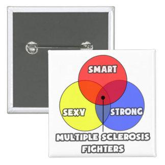 Venn Diagram .. Multiple Sclerosis Fighters 15 Cm Square Badge