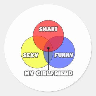 Venn Diagram .. My Girlfriend Round Stickers