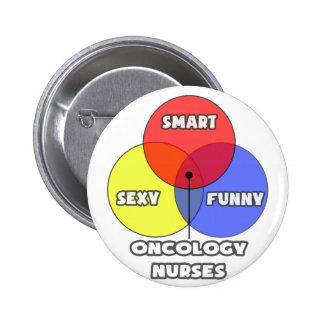 Venn Diagram .. Oncology Nurses 6 Cm Round Badge