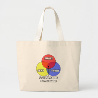 Venn Diagram .. Osteopathic Physicians Large Tote Bag