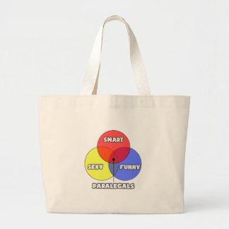 Venn Diagram .. Paralegals Large Tote Bag