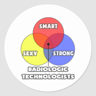 Venn Diagram .. Radiologic Technologists Round Stickers