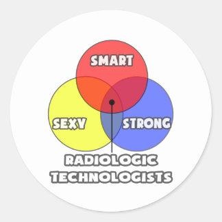 Venn Diagram .. Radiologic Technologists Round Stickers