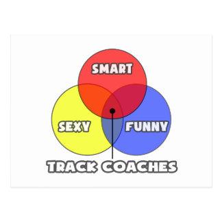 Venn Diagram .. Track Coaches Postcard