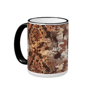 Venomous Snake Skin Camo Ringer Mug