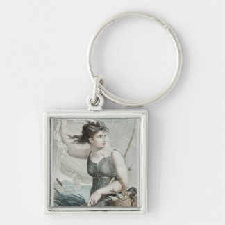 Ventose , sixth month of the Republican Silver-Colored Square Key Ring