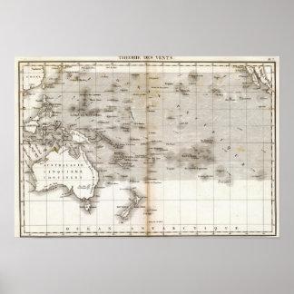 Vents Ocean Pacifique Poster