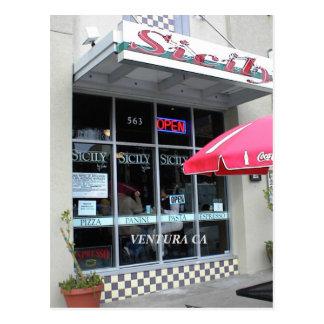 Ventura, California Italian Restaurant Postcard