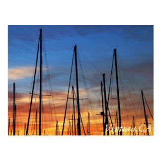 Ventura Harbor morning sky Postcard