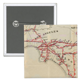 Ventura, Los Angeles, San Bernardino, Orange 15 Cm Square Badge