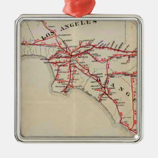 Ventura, Los Angeles, San Bernardino, Orange Christmas Ornament