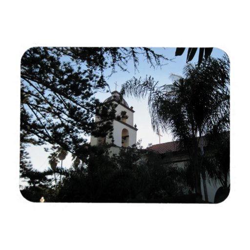 Ventura Mission Bell Tower Rectangle Magnets