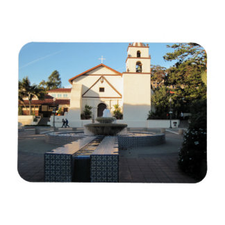 Ventura Mission from Mall Across Main St. Rectangular Photo Magnet