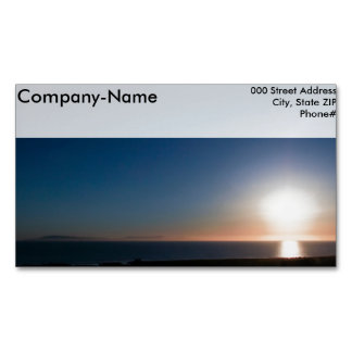 Ventura Sunset Magnetic Business Cards