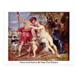 Venus And Adonis By Peter Paul Rubens Post Card