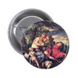 Venus And Adonis By Veronese Paolo (Best Quality) Pinback Button