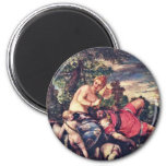 Venus And Adonis By Veronese Paolo (Best Quality) Refrigerator Magnet