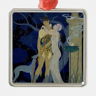 Venus and Adonis (colour litho) Christmas Ornament