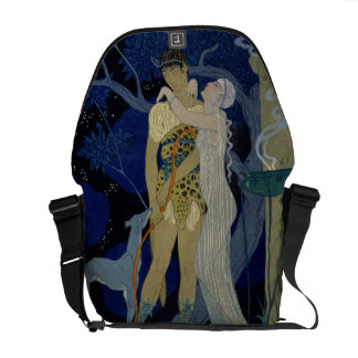 Venus and Adonis (colour litho) Courier Bags