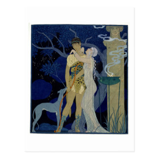 Venus and Adonis (colour litho) Postcard