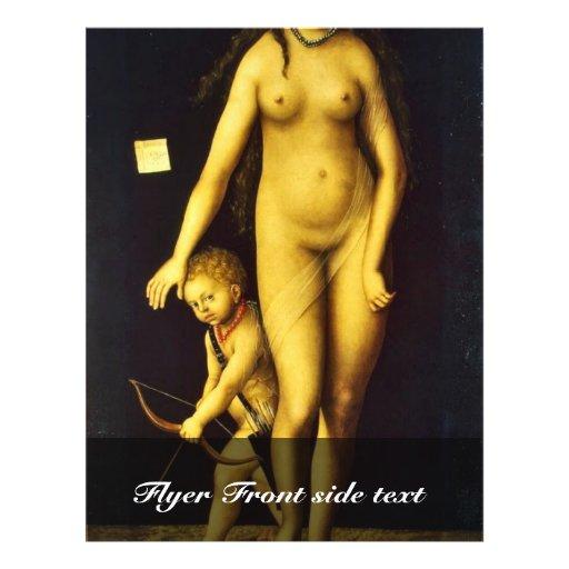 Venus And Cupid By Cranach D. Ä. Lucas (Best Quali Full Color Flyer
