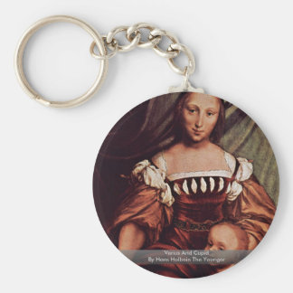 Venus And Cupid By Hans Holbein The Younger Basic Round Button Key Ring