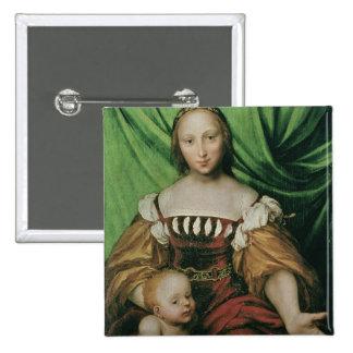 Venus and Cupid, c.1524 (oil on limewood) 15 Cm Square Badge