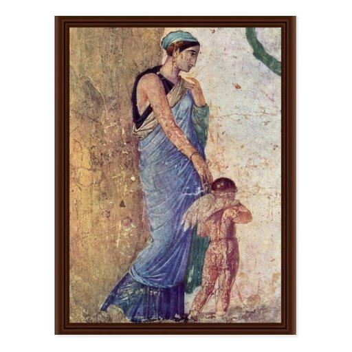 Venus And Cupid Punished Detail By Pompejanischer Postcards