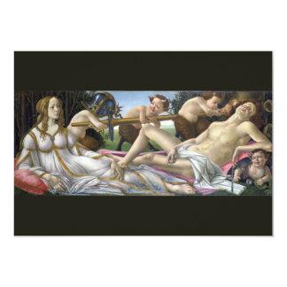 Venus and Mars by Sandro Botticelli Invite
