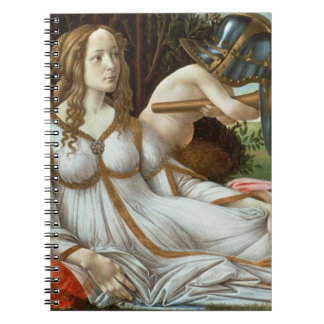 Venus and Mars, c.1485 (tempera and oil) Spiral Notebook