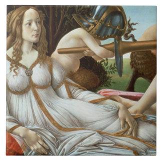 Venus and Mars, c.1485 (tempera and oil) Tile