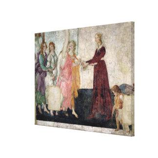 Venus and the Graces Canvas Print