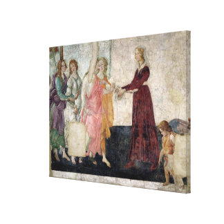 Venus and the Graces Canvas Print