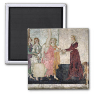 Venus and the Graces Square Magnet