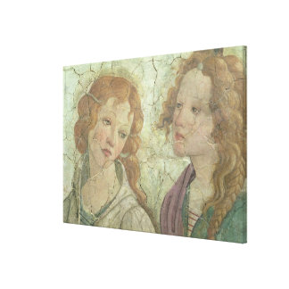 Venus and the three Graces Offering Gifts to a You Canvas Print