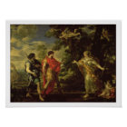 Venus Appearing to Aeneas as a Huntress, c.1635 (o Poster