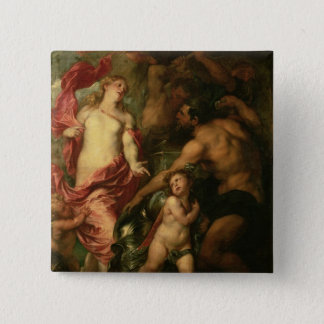 Venus asking Vulcan for the Armour of Aeneas (oil 15 Cm Square Badge