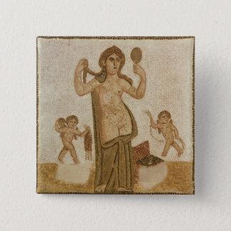 Venus at her Toilet 15 Cm Square Badge