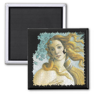 Venus Botticelli puzzle Square Magnet