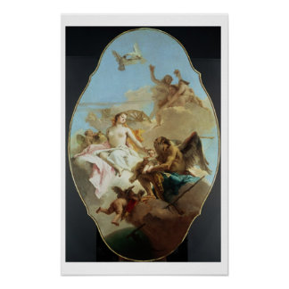 Venus, ceiling painting (oil on panel) poster