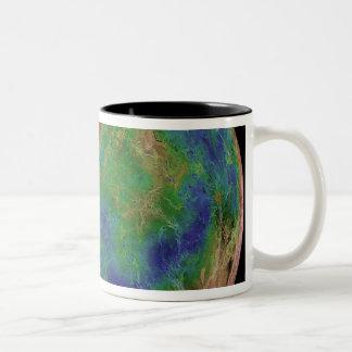 Venus centered on the South Pole Two-Tone Coffee Mug