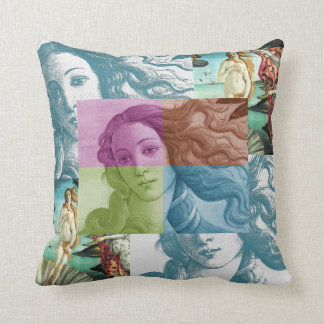 Venus Collage Throw Pillow